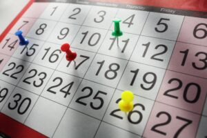 Calendar appointment date