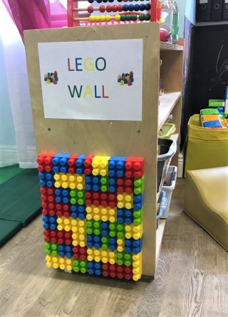 lego wall for babies